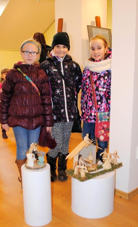 V Lichtenštejnském domě jsou vystavena díla dětí s vánoční tématikou.Foto: Jaroslav Švach