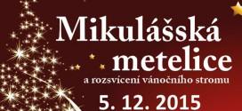 Mikulášská metelice a rozsvícení vánočního stromu