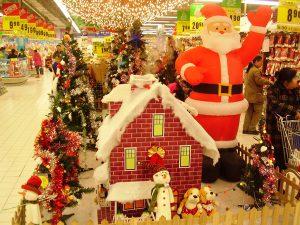 Vánoční výzdoba v čínském obchodním centru